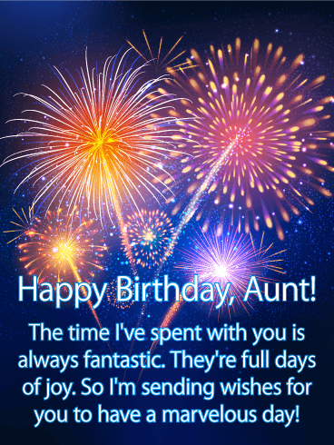 Have a Marvelous Day - Happy Birthday Card for Aunt