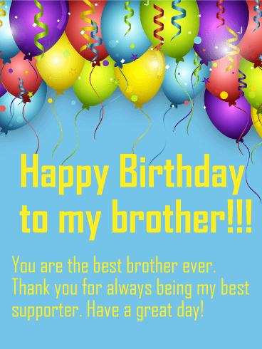 To the Best Brother - Happy Birthday Wish Card