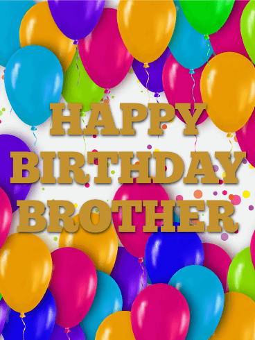 Colorful Birthday Balloon Card for Brother