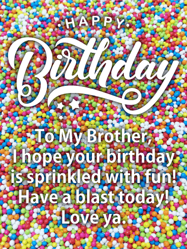 Sprinkle Happy Birthday Card for Brother