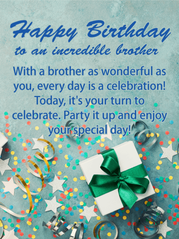 Party It Up Happy Birthday Card For Brother Birthday Greeting