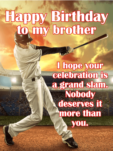 A Grand Slam Celebration - Happy Birthday Card for Brother