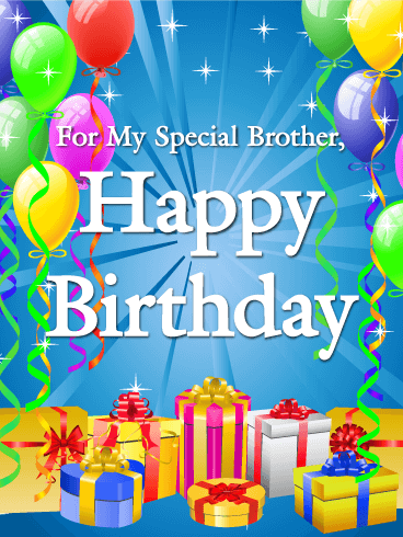 For My Special Brother Happy Birthday Card Birthday Greeting