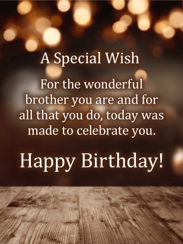 Happy Birthday Brother Messages with Images - Birthday
