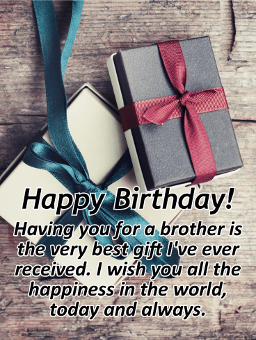 Wishing you All the Best - Happy Birthday Card for Brother