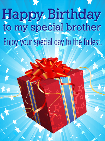 To My Special Brother Happy Birthday Card Birthday Greeting