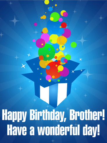 Have A Wonderful Day Happy Birthday Card For Brother Birthday