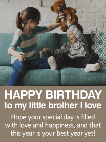 To my little brother happy birthday wishes card birthday to my little brother happy birthday wishes card m4hsunfo