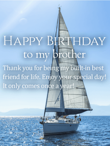 Enjoy Your Special Day! Happy Birthday Wishes Card for Brother