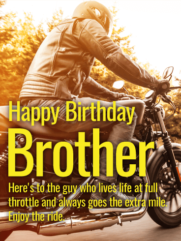 Enjoy the Ride! Happy Birthday Card for Brother