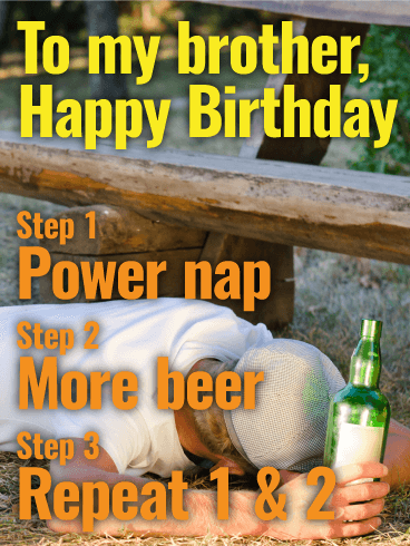 Just a Power Nap! Happy Birthday Card for Brother