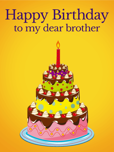 Simply Delicious Birthday Cake Card for Brother Birthday
