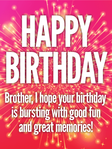 Stunning Happy Birthday Card for Brother