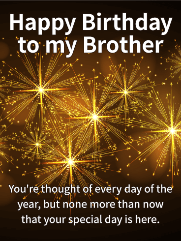 It's Your Special Day! Happy Birthday Wishes Card for Brother