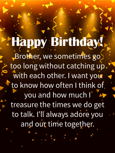 I'll Always Adore You! Happy Birthday Wishes Card for Brother