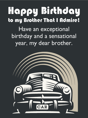 Have a Sensational Year! Happy Birthday Card for Brother