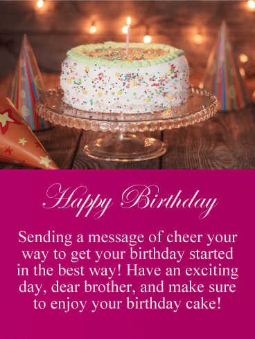 Have an Exciting Day! Happy Birthday Card for Brother