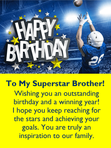 Wishing You a Winning Year! Happy Birthday Card for Brother