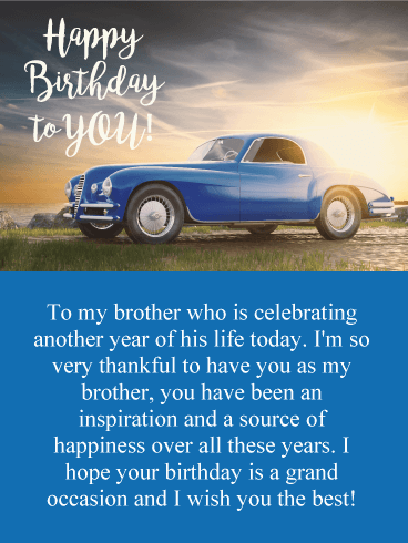 Wishing You the Best! Happy Birthday Card for Brother