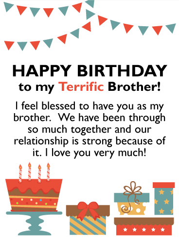 I Feel Blessed - Happy Birthday Card for Brother