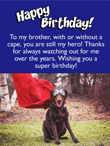 You're my Hero! Happy Birthday Card for Brother