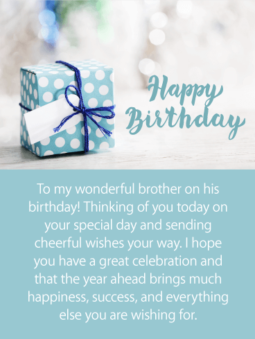 Decorative Gift Box Happy Birthday Card for Brother