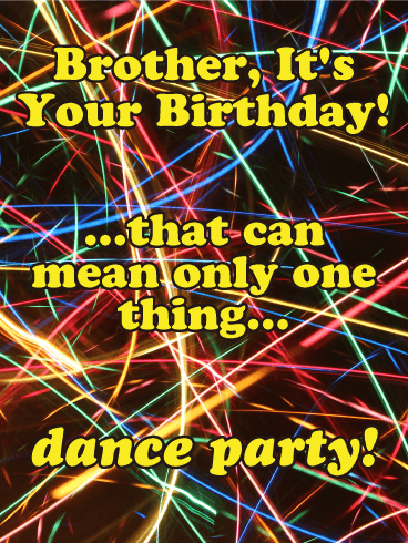 Let's Dance! Happy Birthday Card for Brother