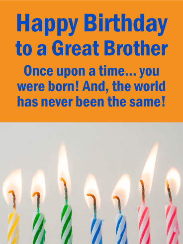 Brothers are the Best! Happy Birthday Card