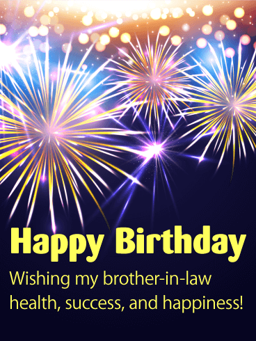 Cheers Happy Birthday Card For Brother In Law Birthday Greeting