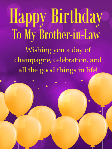 Golden Birthday Balloon Card for Brother-in-Law