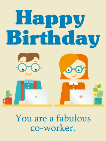 You are a fabulous! Birthday Card for Co-Worker