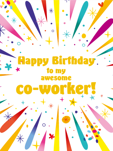 Happy Birthday Card For Co Worker
