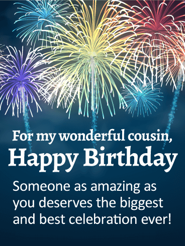 You are Amazing! Happy Birthday Wishes Card for Cousin