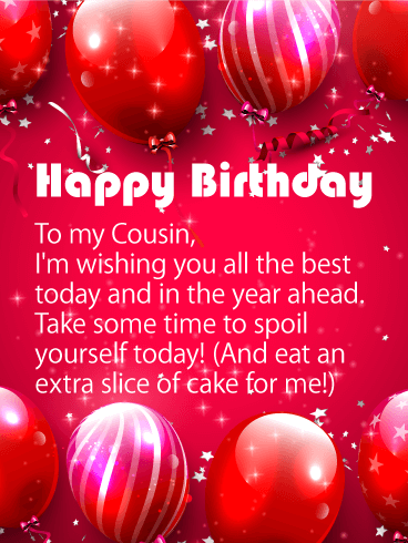 Wishing You all the Best - Happy Birthday Card for Cousin