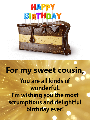 For my Dear & Sweet Cousin - Happy Birthday Card