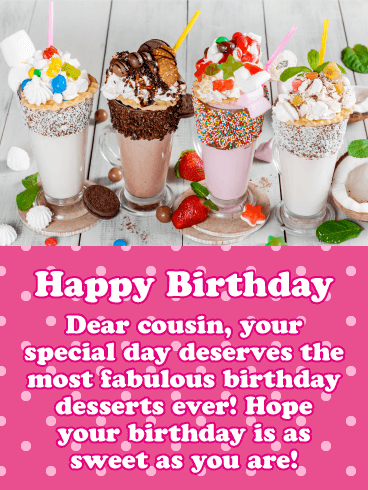 Miraculous Have A Sweet Day Happy Birthday Card For Cousin Birthday Birthday Cards Printable Benkemecafe Filternl