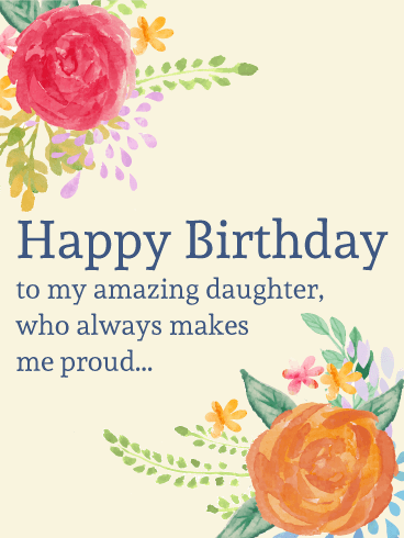 To My Amazing Daughter - Painting Birthday Flower Card