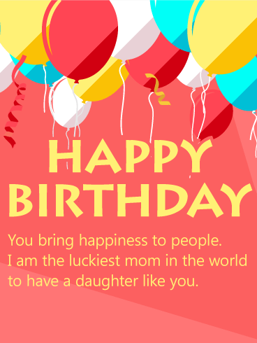 Birthday Balloon Card for Daughter