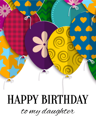 Joyful Birthday Balloon Card for Daughter