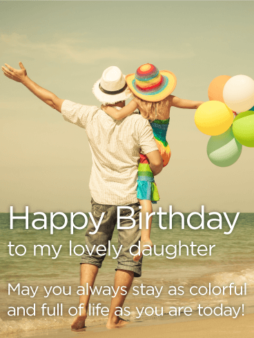 Always Stay Colorful! Happy Birthday Wishes Card for Daughter