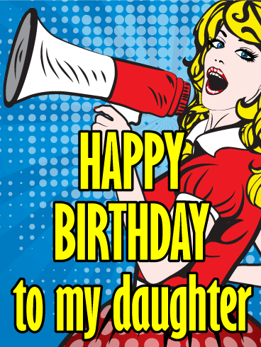 Blondy Happy Birthday Card for Daughter