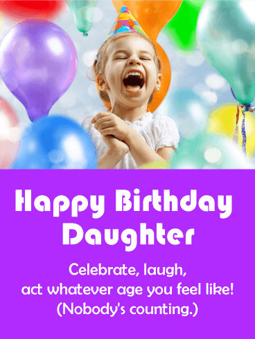 Celebrate & Laugh! Funny Birthday Card for Daughter