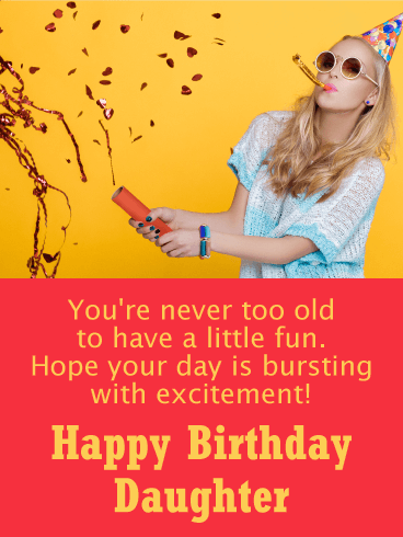 Party Girl Funny Birthday Card For Daughter Birthday Greeting