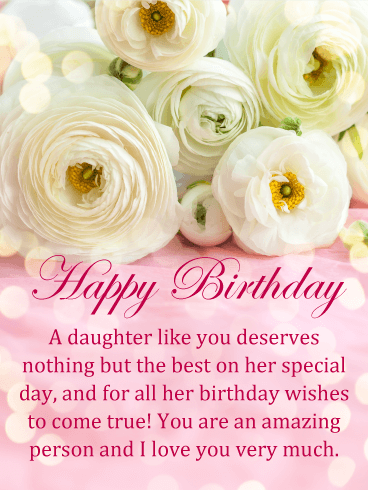 Fabulous Flowers Happy Birthday Card For Daughter Birthday