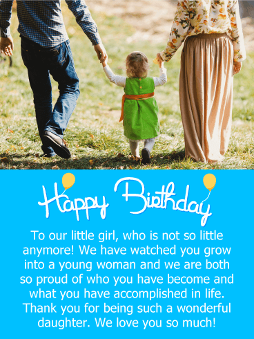 We are so Proud! Happy Birthday Card for Daughter