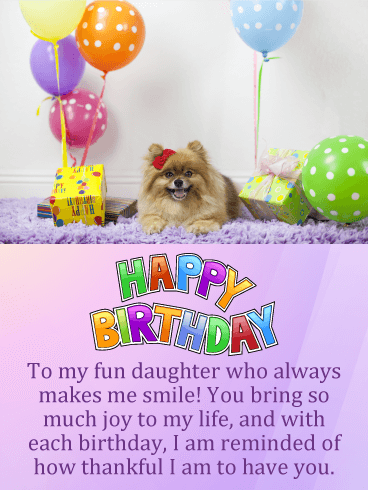 Sweet Puppy Happy Birthday Card for Daughter