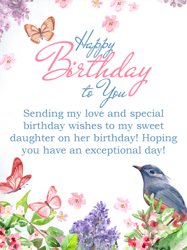 Sending my love happy birthday card for daughter birthday sending my love happy birthday card for daughter m4hsunfo