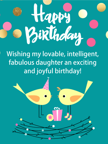 To my Lovable Daughter - Happy Birthday Card