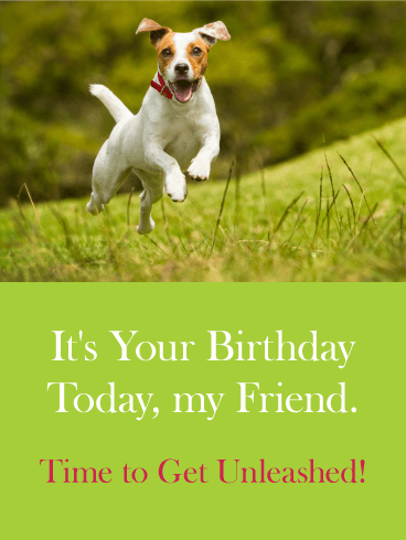 Get Unleashed! Happy Birthday Card for Friends