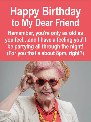 Young at Heart - Funny Birthday Card for Friends